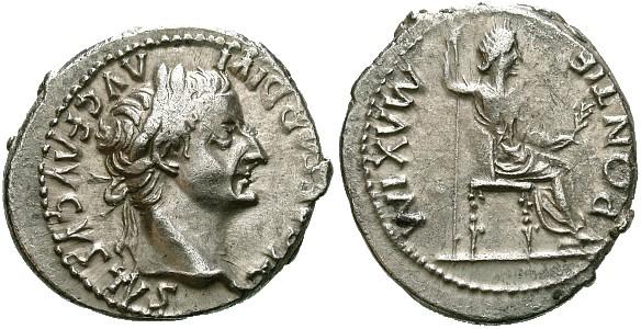 Tiberius coin. CREDIT: forumancientcoins.com