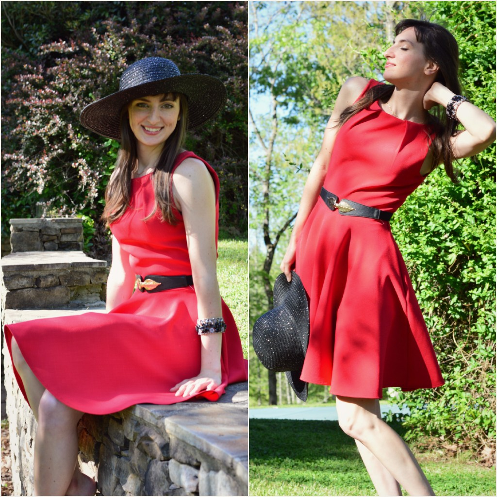 """Luck Be A Lady"" dress in red."