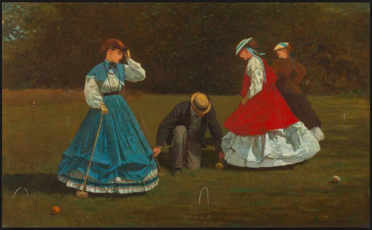 """Winslow Homer's """"Croquet Scene,"""" 1866"""
