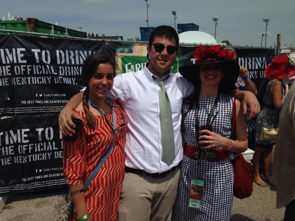 Drinking juleps at the infield. Watch out - the infield doesn't have the best view and is known for becoming a drunken mess as the day grows older.