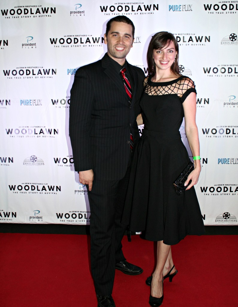 "Joshua Sheik and Amanda Read at the August 29th, 2015 premiere of ""Woodlawn"" in Birmingham, Alabama"
