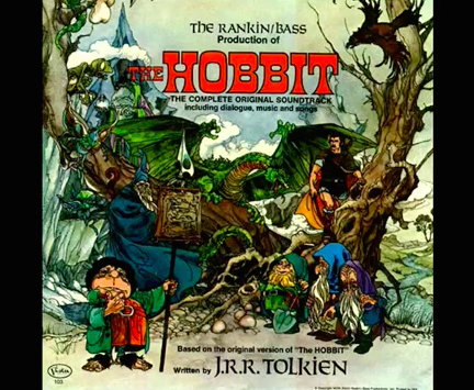 The Hobbit soundtrack record cover